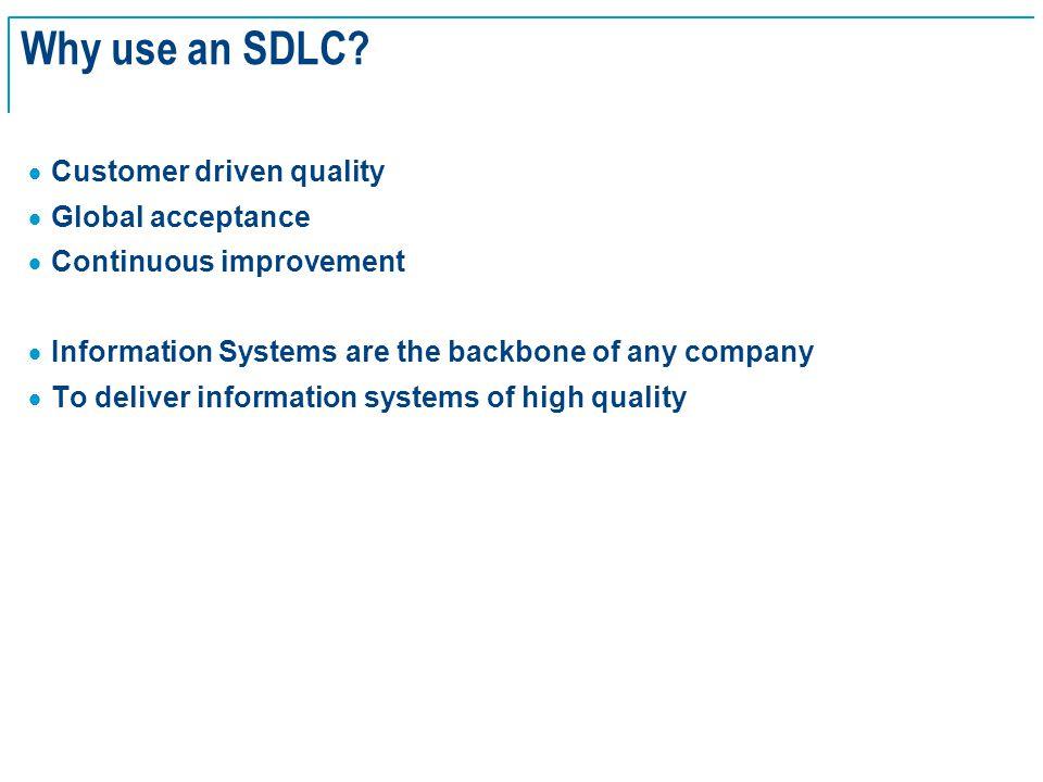 SE Basics v2.0 - 5 Why use an SDLC.