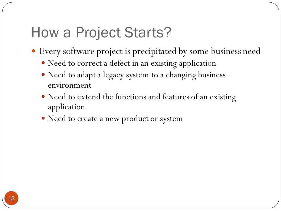 How a Project Starts.
