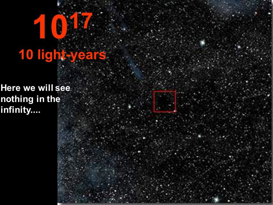At one light-year the little Sun star is very small 10 16 1 light-year
