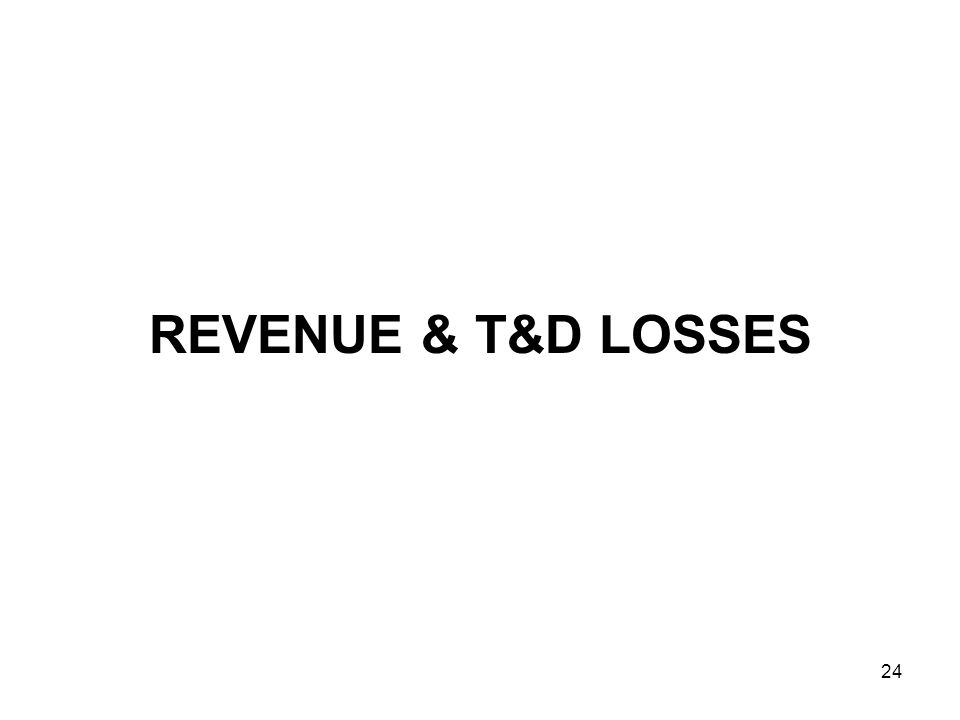 24 REVENUE & T&D LOSSES