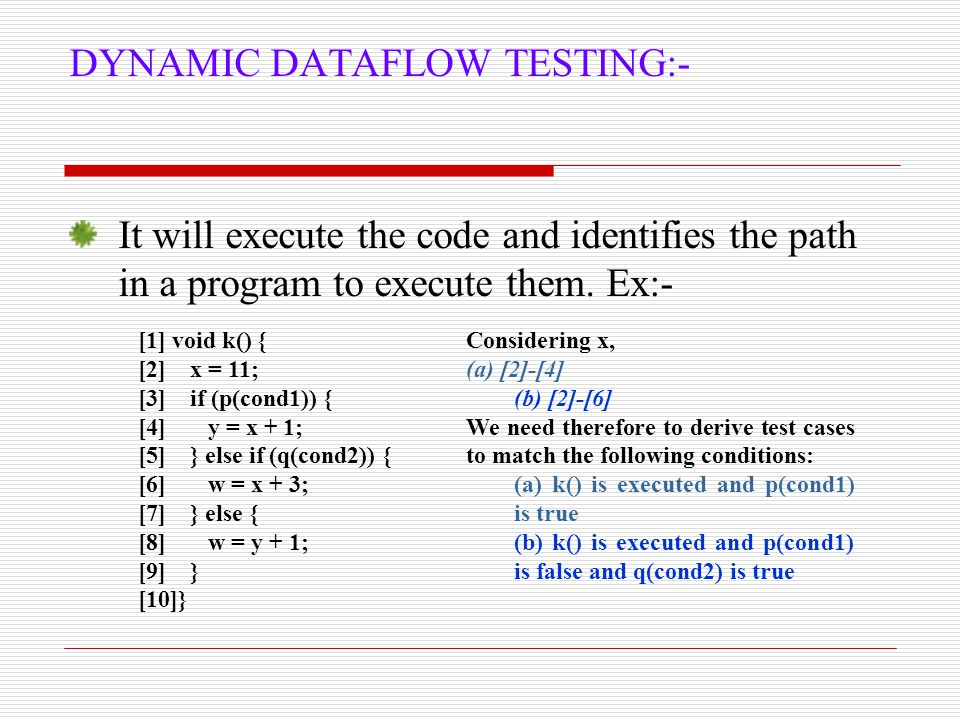 DATAFLOW ANOMALY Anomaly: It is an abnormal way of doing something.