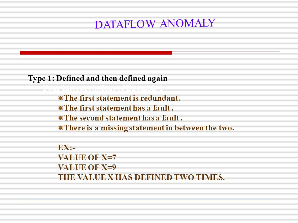 18 Data Flow Terms  Global definition: A node i has a global definition of variable x if node i has a definition of x and there is a def-clear path w.r.t.