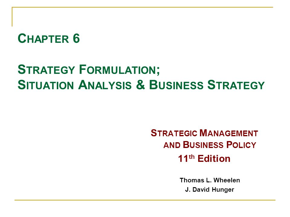 Situation Analysis & Business Strategy 22 Cooperative Strategies - Means for Achieving Strategies  Two or more companies form a temporary partnership or consortium for purpose of capitalizing on some opportunity.