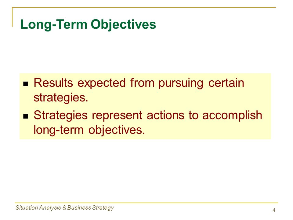 Situation Analysis & Business Strategy 25 Cooperative Strategies - Means for Achieving Strategies Reasons for M&A:  Provide improved capacity utilization  Better use of existing sales force  Reduce managerial staff  Gain economies of scale  Smooth out seasonal trends in sales  Gain new technology  Access to new suppliers, distributors, customers, products, creditors Mergers & Acquisitions