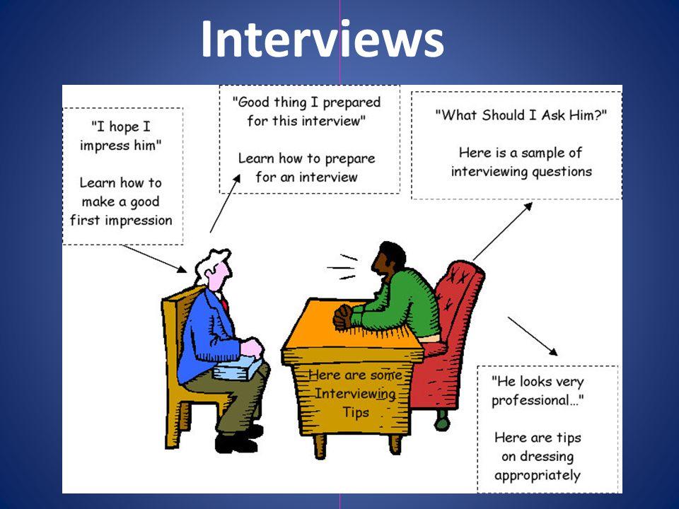 An interview is a formal meeting between a job seeker and an employer.