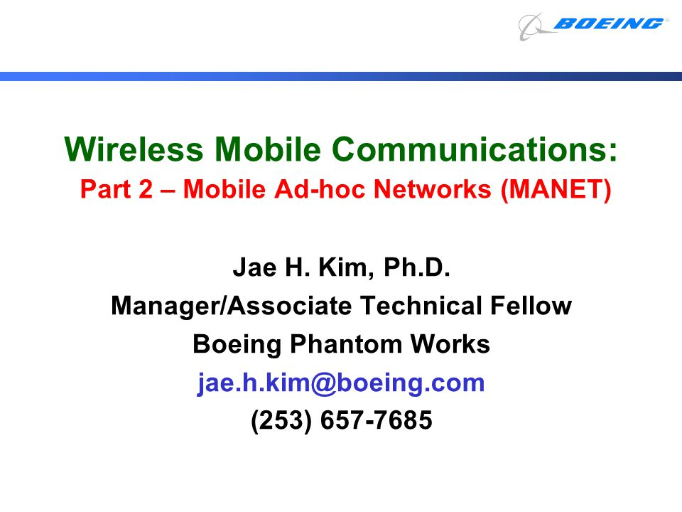 Outline PART 2: Wireless LAN MAC Protocols Mobile Ad-hoc Network (MANET) Proactive Reactive Hybrid