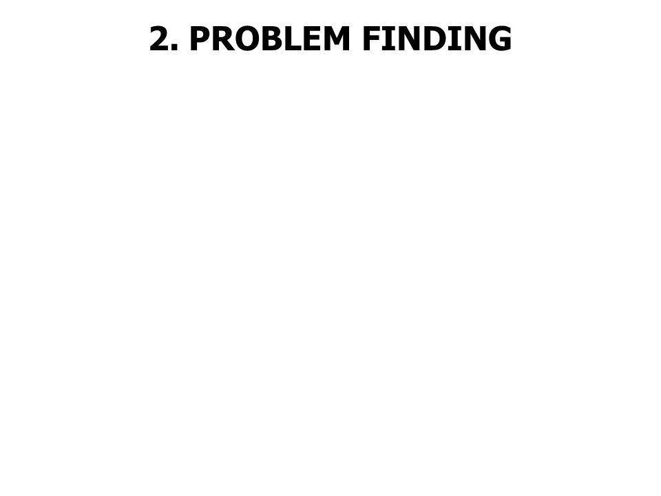 2. PROBLEM FINDING