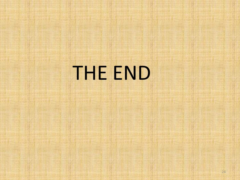 24 THE END