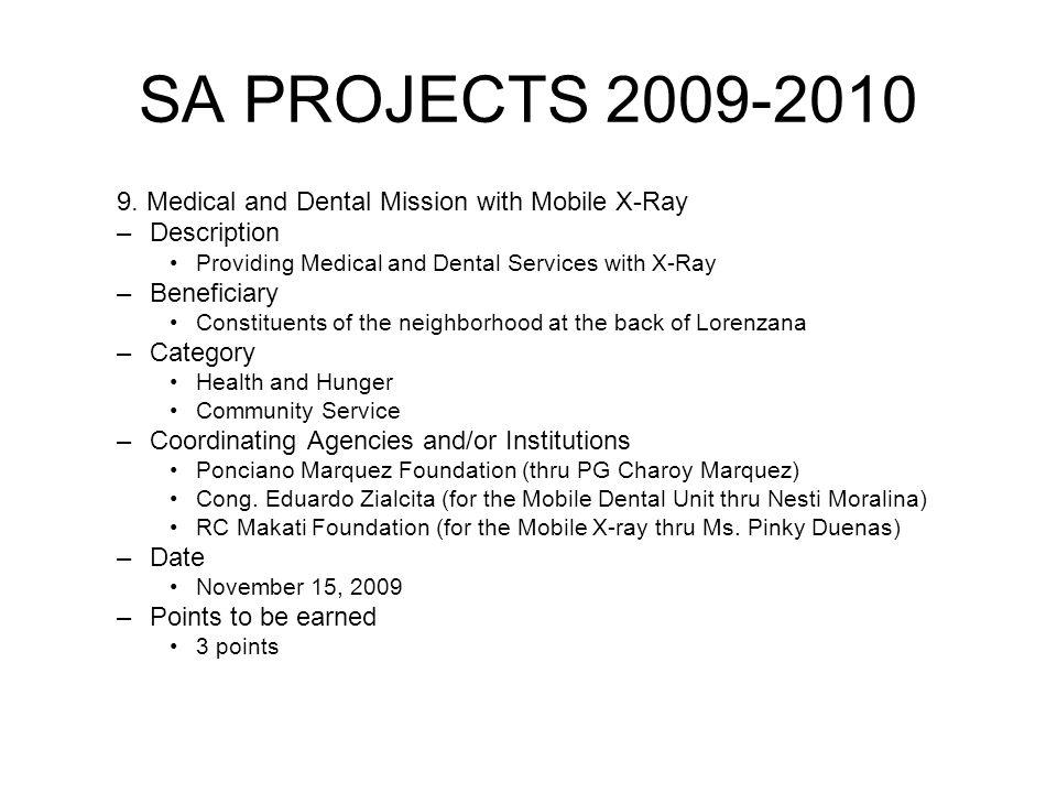 SA PROJECTS 2009-2010 9.