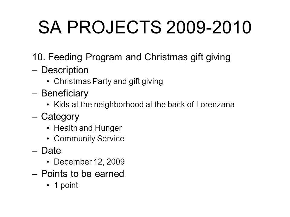 SA PROJECTS 2009-2010 10.