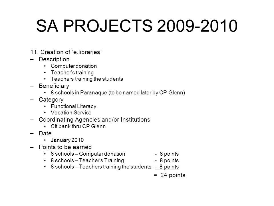 SA PROJECTS 2009-2010 11.