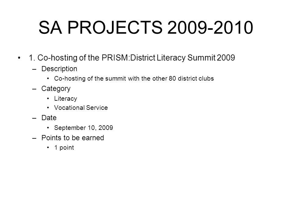 SA PROJECTS 2009-2010 1.