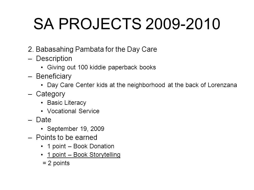 SA PROJECTS 2009-2010 2.