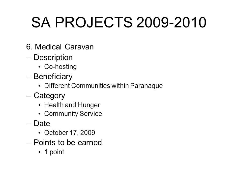 SA PROJECTS 2009-2010 6.