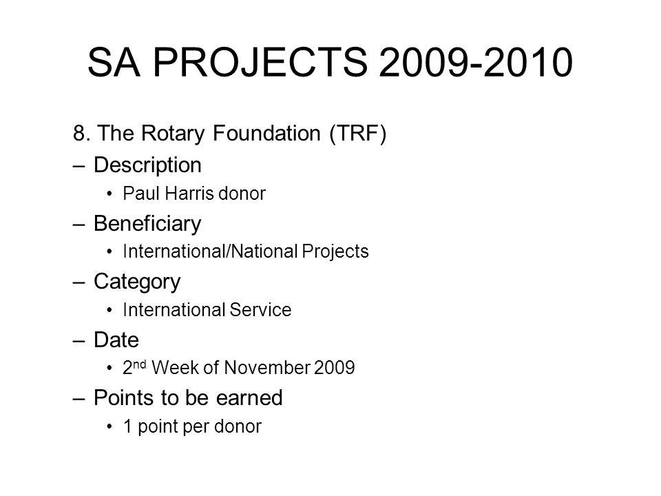 SA PROJECTS 2009-2010 8.