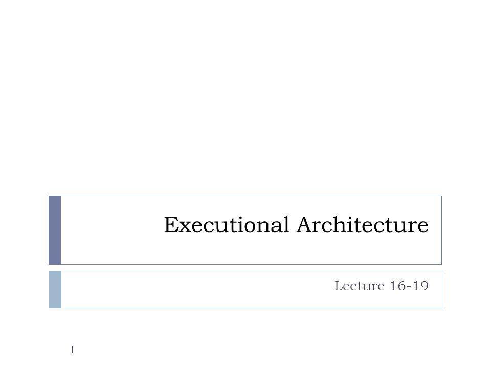 Conceptual vs execution Conceptual Architecture Execution Architecture Component Connector Domain-level responsibilities Concurrent activity Flow of information Invocation relationship 2