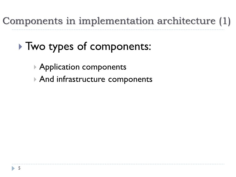 Implementation arch.