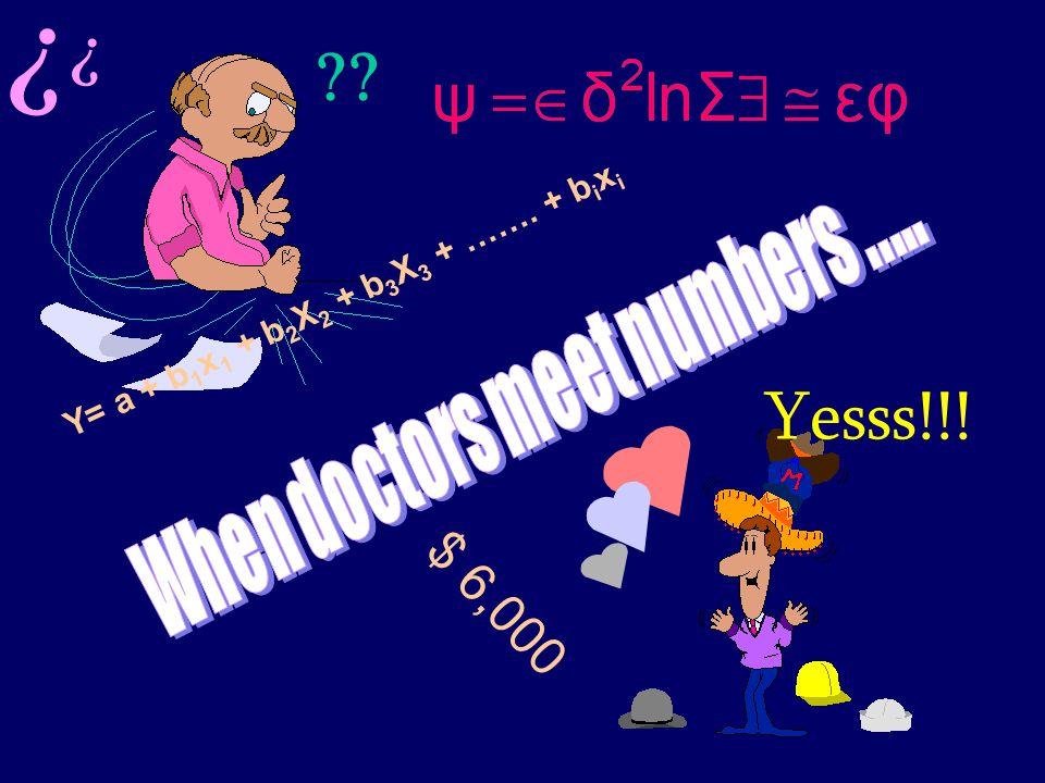 SS/EBM/IKA-UDIP-2010 Y= a + b 1 x 1 + b 2 X 2 + b 3 X 3 + ……. + b i x i   $ 6,000 Yesss!!!