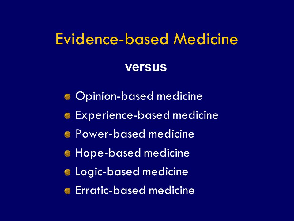 SS/EBM/IKA-UDIP-2010 The EBM Cycle Patient With problem Formulate In answerable question Search the evidence Appraise The evidence Apply The evidence
