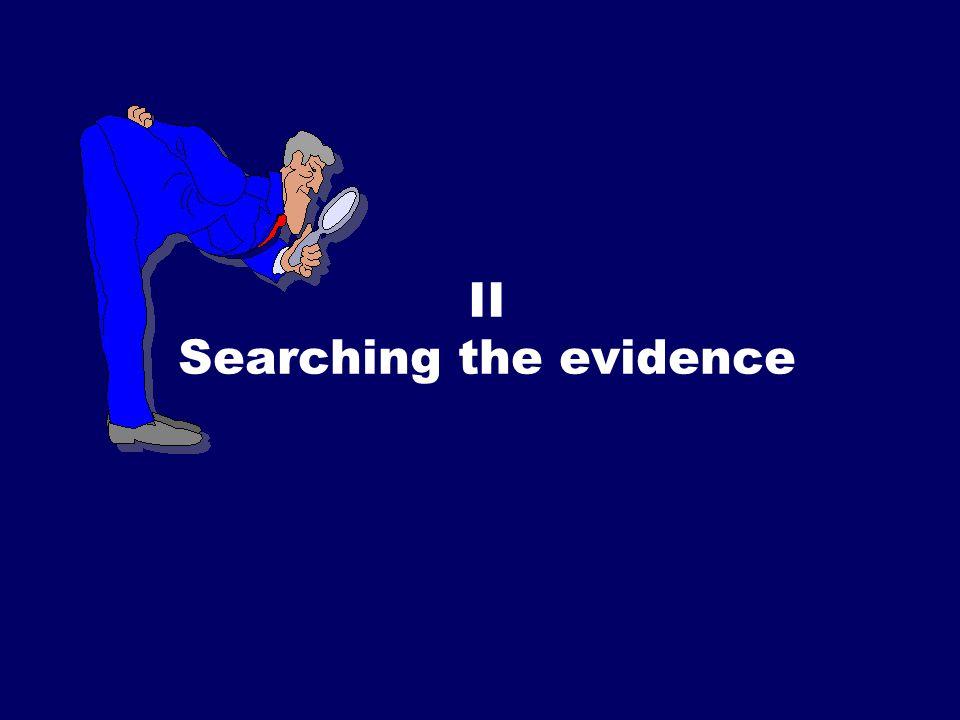 SS/EBM/IKA-UDIP-2010 II Searching the evidence