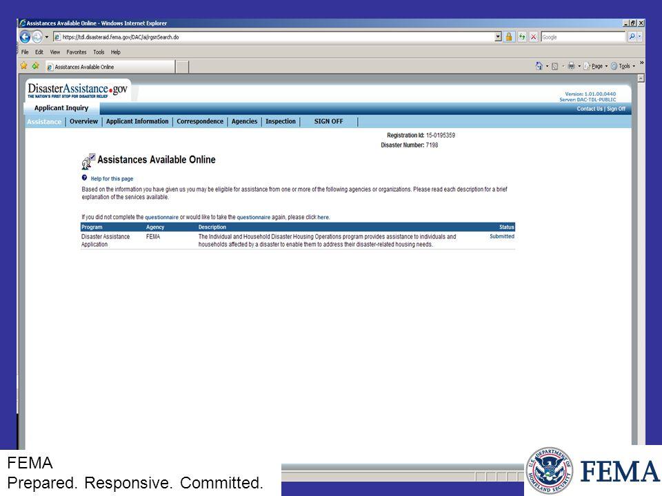 FEMA Prepared. Responsive. Committed.