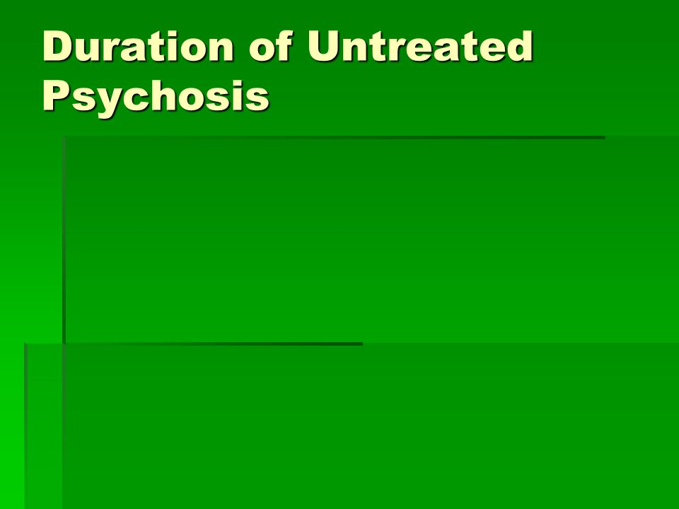 Duration of Untreated Psychosis