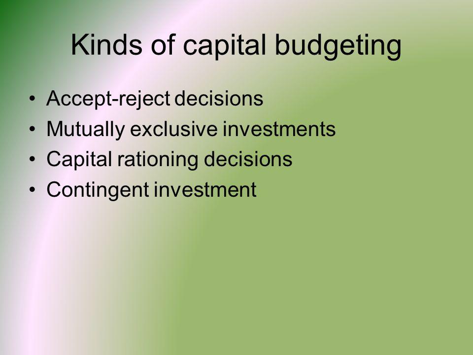 Generally in capital budgeting criteria of cash flow to investors is considered
