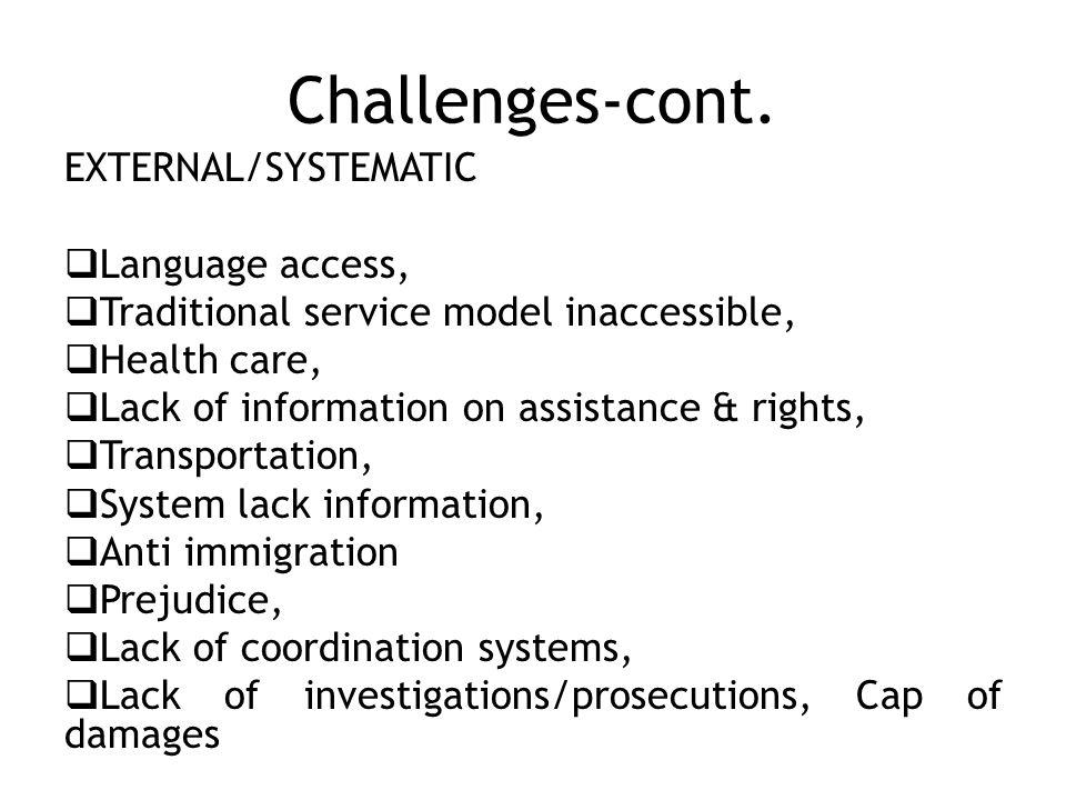 Challenges-cont.