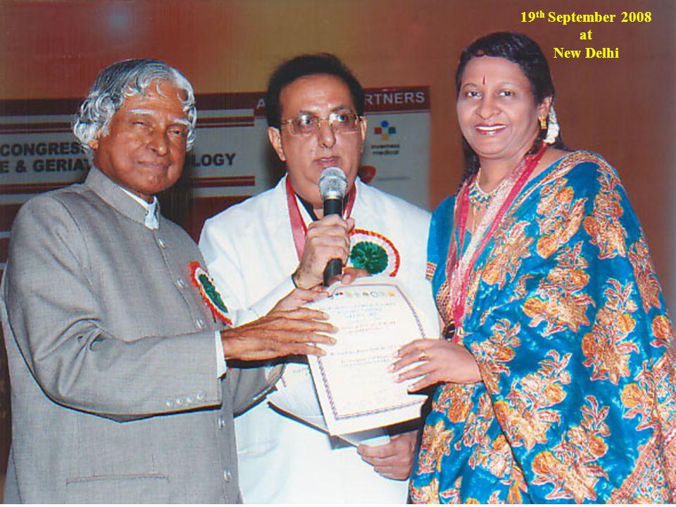 19 th September 2008 at New Delhi