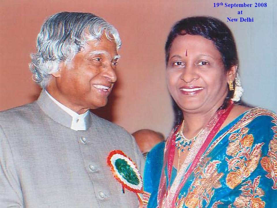 19 th September 2008 at New Delhi 19 th September 2008 at New Delhi