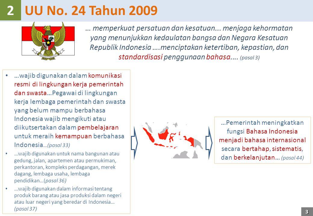 UU No. 24 Tahun 20092 … memperkuat persatuan dan kesatuan...