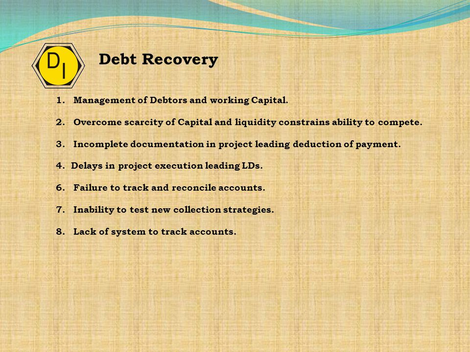 1.Management of Debtors and working Capital.