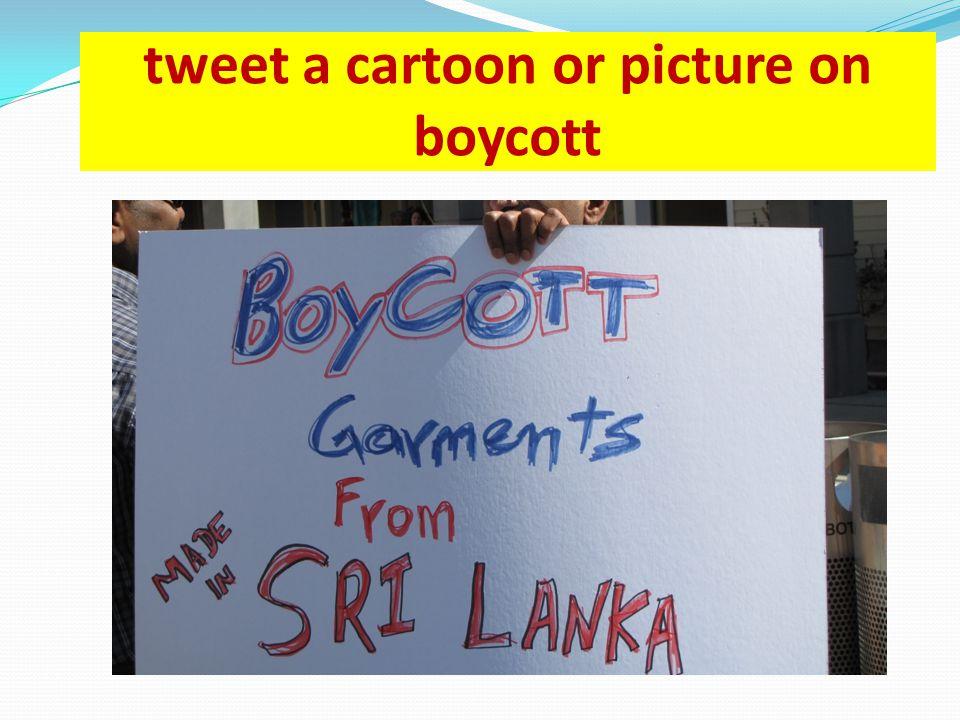 tweet a cartoon or picture on boycott