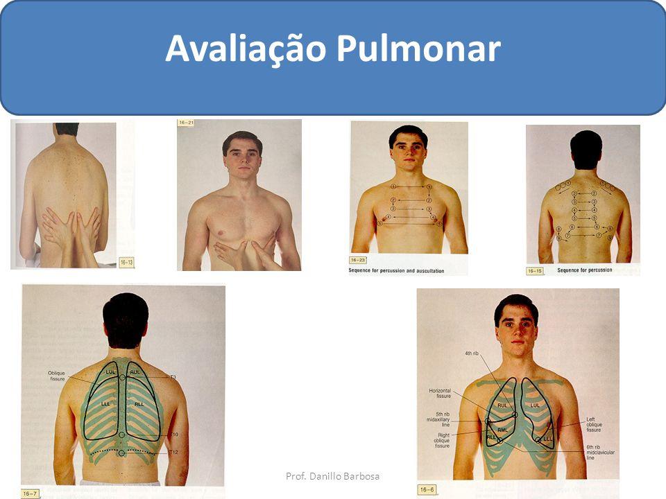 Avaliação Pulmonar Prof. Danillo Barbosa