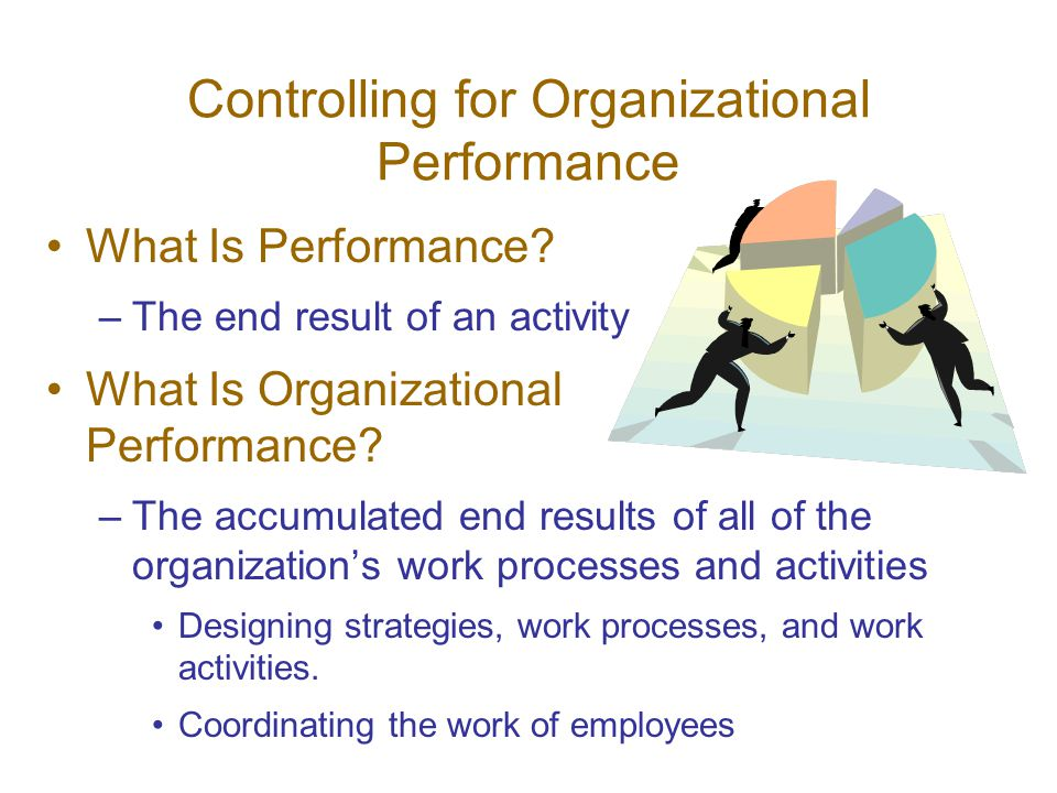 Controlling for Organizational Performance What Is Performance.