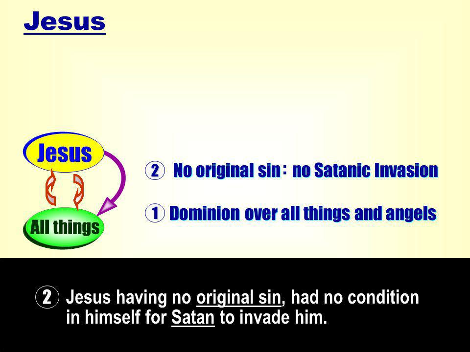 Jesus having no original sin, had no condition in himself for Satan to invade him.