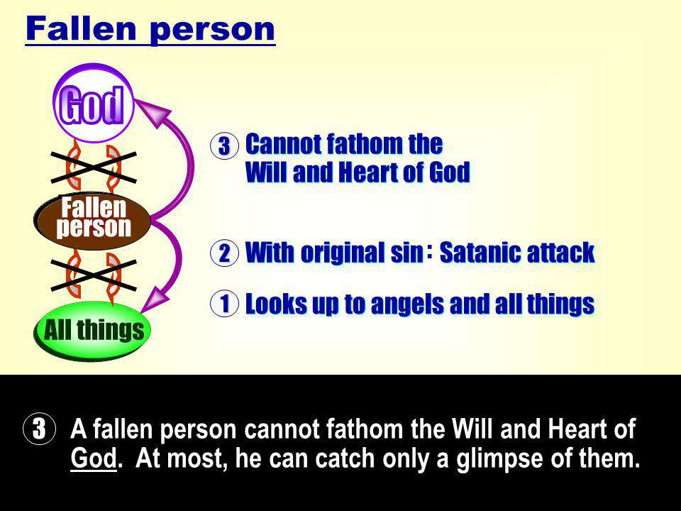 A fallen person cannot fathom the Will and Heart of God.