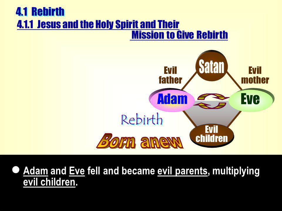 Adam and Eve fell and became evil parents, multiplying evil children.