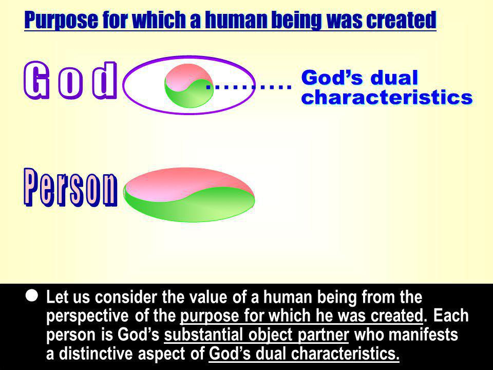 Adam and Eve, the embodied object partners of God in image, were created separately out of the dual characteristics of the Logos (p.