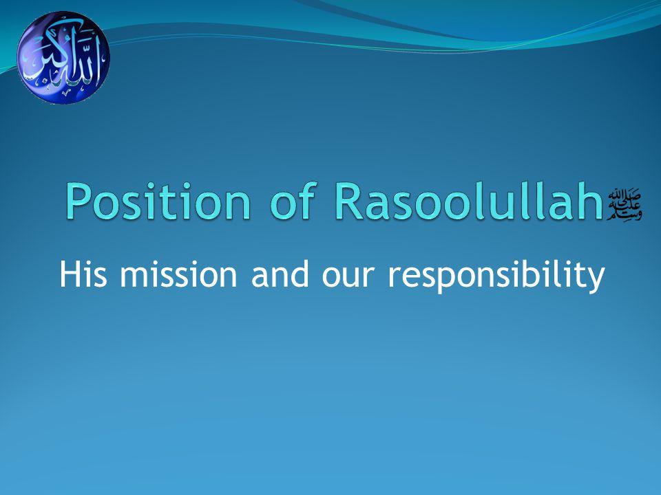 The methodology of Rasoolullah