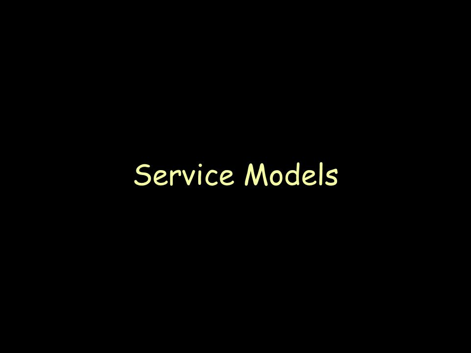 Page 40 Service Models