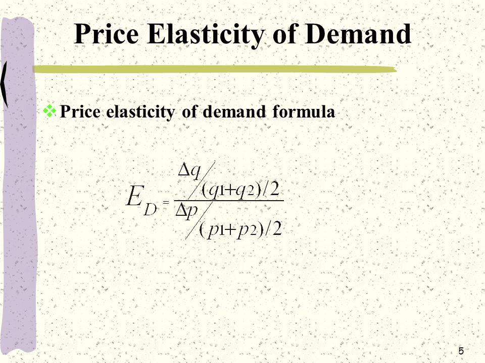 5 Price Elasticity of Demand  Price elasticity of demand formula