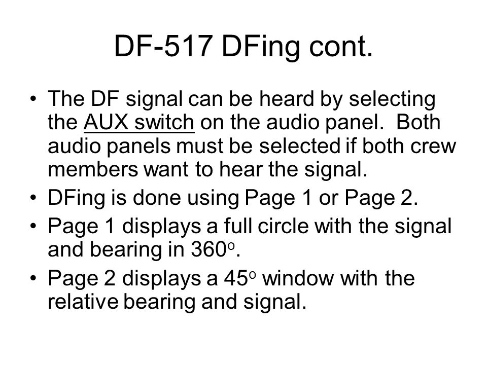 DF-517 DFing cont.