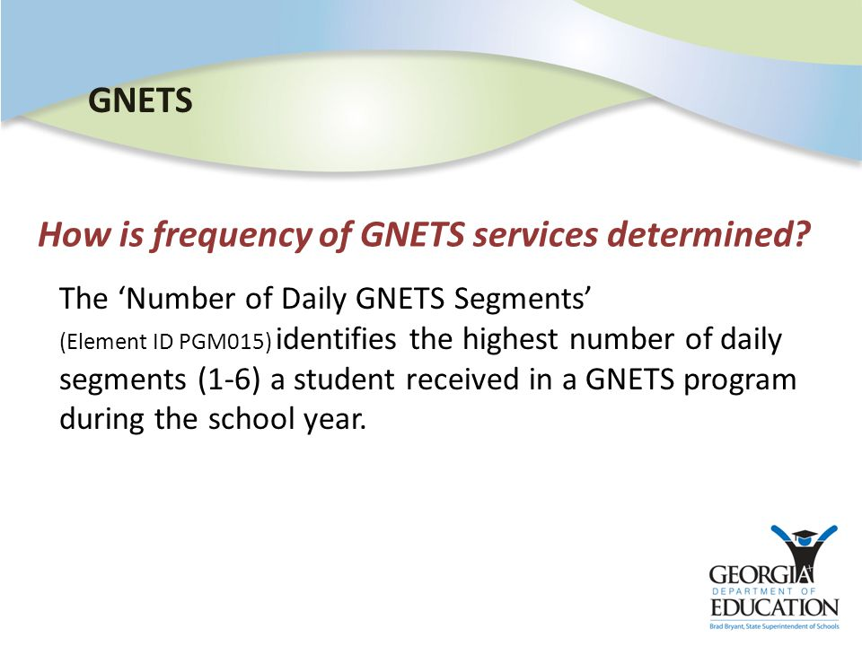 How is frequency of GNETS services determined.