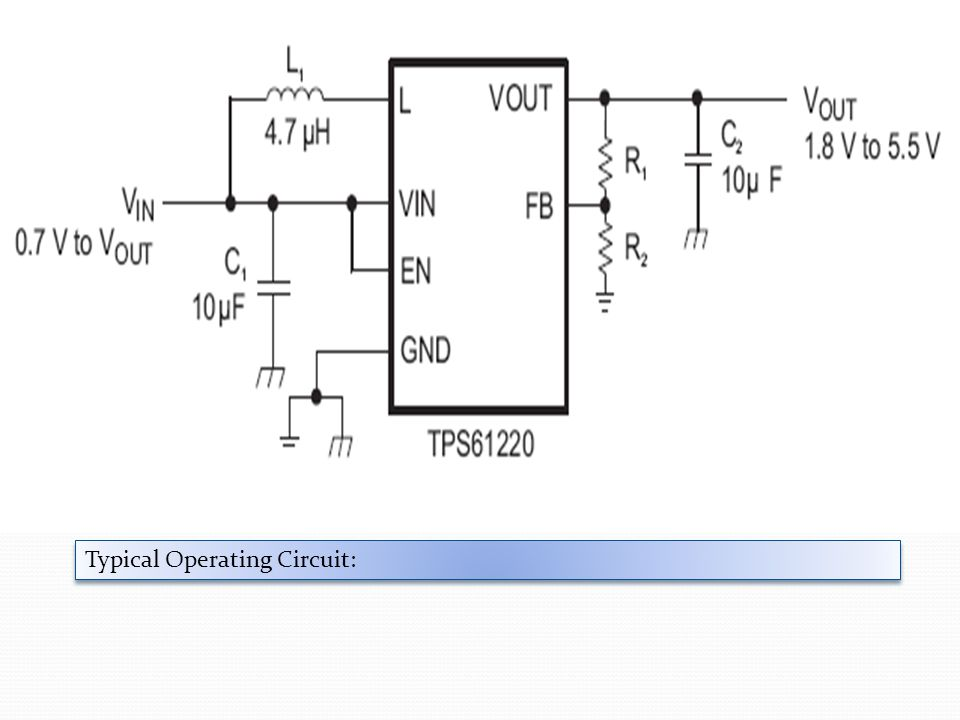 Typical Operating Circuit: