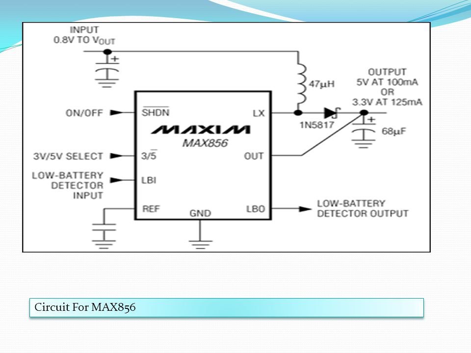 Circuit For MAX856