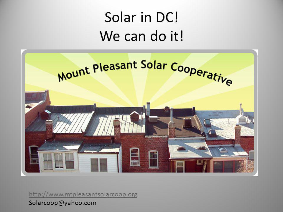 The DC Rebate Program Pre-Application ONLINE at http://green.dc.gov/green/cwp/view,a,1244,q,461562.asp http://green.dc.gov/green/cwp/view,a,1244,q,461562.asp Apply immediately- as there is only room in the program for about 200 houses per year.