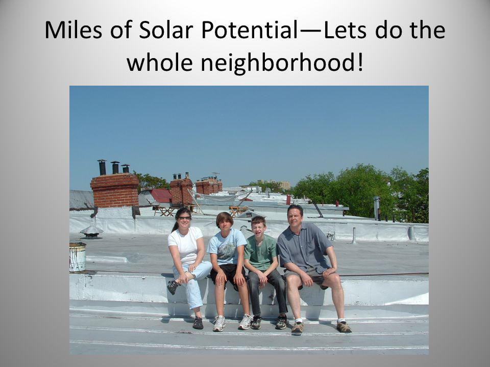 Miles of Solar Potential—Lets do the whole neighborhood!