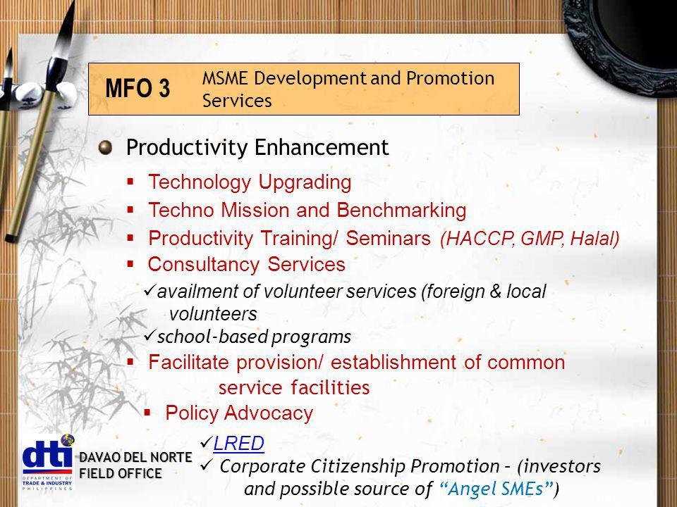 DAVAO DEL NORTE FIELD OFFICE Consumer Welfare and Protection Services MFO 4 Project E.M.B.R.A.C.E.