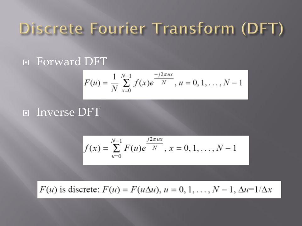  Forward DFT  Inverse DFT